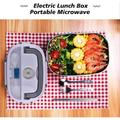 Prep & Savour Lunch Box, 12V 24V 110V Heated Lunch Box Portable Microwave For Car Office School, Size 6.8 H x 8.7 W x 4.8 D in   Wayfair
