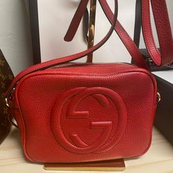 Gucci Bags   Gucci Soho Leather Disco Bag   Color: Red   Size: Os