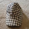 J. Crew Accessories   J. Crew Wool Houndstooth Hat Black Cream Tan   Color: Black/Tan   Size: Os