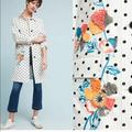 Anthropologie Jackets & Coats | Anthropologie Polka Dot Embroidered Trench Coat | Color: Black/White | Size: S