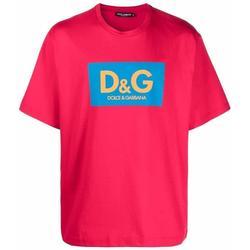 Logo-print Boxy Fit T-shirt - Red - Dolce & Gabbana T-Shirts