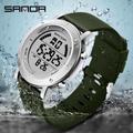 Sanda – montre numérique pour hommes, montre-bracelet de Sport en plein air, chronomètre de course,