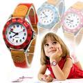 Montre à Quartz pour enfants, joli bracelet en tissu pour garçons et filles, horloge pour écoliers,