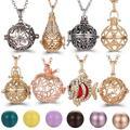 Collier creux Vintage multi-styles, bijoux boule de musique, pendentif cloche de grossesse, arôme