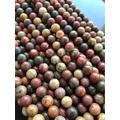 Perles de jaspe Picasso en pierre naturelle, pour la fabrication de bijoux, collier 15 ''4mm 6mm 8mm