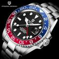 PAGANI DESIGN — Montre automatique en acier inoxydable, bracelet GMT pour hommes, bijou mécanique de