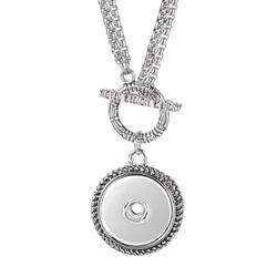 Collier à bascule en acier inoxydable, pendentif Vocheng Interchangeable, bijoux, gingembre, 18mm,