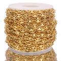 Chaîne en grains de café or 1 M, collier en acier inoxydable 5mm, nez de cochon, Bracelets Punk Hip