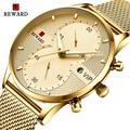 Montres de récompense pour hommes, marque de luxe, chronographe, étanche, à Quartz, en acier