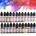 Ensemble de 24 couleurs de pigments de résine époxy, pour bricolage, artisanat, Colorant liquide,