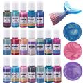 24 couleurs 10g Résine Pigments Sirène Perle Colorant BRICOLAGE Moule En Résine Époxy Liquide UV