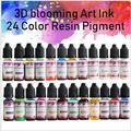 Kit de pigments en résine époxy, 24 couleurs, 10ML, encre d'art, liquide, Colorant, Diffusion