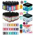 Kit de Pigments en résine époxy pour bricolage, ensemble de Pigments liquides pour moule en