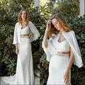 Veste courte en mousseline de soie pour femme, châle, grande taille, idéal pour mariage