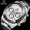 BENYAR – montre étanche en acier inoxydable pour homme, marque de luxe, chronographe, à Quartz,