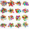 Lot de 100 autocollants en feutre, couleurs mélangées aléatoires, tampons en feutre multi-formes,