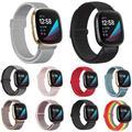 Bracelet de rechange en Nylon tissé pour Fitbit Versa 3/Sense, pour montre connectée, Sport, boucle