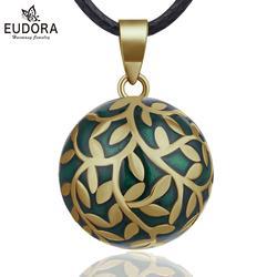 Eudora 20mm collier bola grossesse feuille d'olivier mexicain Bola harmonie carillon boule ange