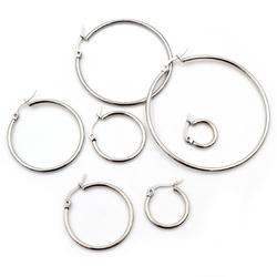10 pièces 15-55mm boucles d'oreilles en acier inoxydable boucle cerceaux boucle d'oreille ouverte