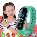 Montre connectée numérique pour enfants, hommes ou femmes, moniteur de fréquence cardiaque, écran