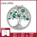 JoiasHome – collier pendentif arbre de vie vert en argent Sterling 925, collier femme créatif,