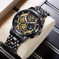 WISHDOIT – montre à Quartz lumineuse et étanche pour hommes, chronographe de luxe en acier