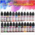 Kit de pigments en résine époxy, 24 couleurs/ensemble, 10ml, encre d'art, alcool liquide, Colorant,