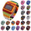 Montres de sport pour enfants, numérique, LED Chic, unisexe, blocs de construction colorés, relogio