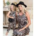 Mia Belle Girls Girls' Jumpsuits Leopard - Brown Leopard Sleeveless Jumpsuit - Toddler, Girls & Women