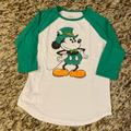 Disney Tops | Green And White Mickey Mouse St. Patricks Day, Sm | Color: Green/White | Size: S