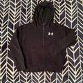 Under Armour Jackets & Coats | Black And White Under Armour Sweater | Color: Black/White | Size: Yxljtgeg
