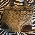 Coach Bags   Coach Fabric Lunch Box Zippered Hand Bag   Color: Brown   Size: Os