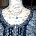 Louis Vuitton Accessories | Louis Vuitton Necklace | Color: Blue/Gold | Size: 16 Inch Necklace