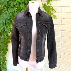 Levi's Jackets & Coats | Levis Denim Jean Jacket Size Small | Color: Black/Gray | Size: S