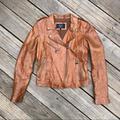 Zara Jackets & Coats | Genuine Leather Jacket | Color: Brown | Size: M