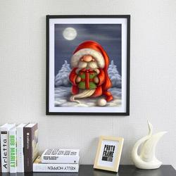 The Holiday Aisle® Santa Claus 5D DIY Diamond Painting Cross Stitch Kit Full Round Resin Diamond Covered Paint By Number Kits For Adults Amd Wayfair