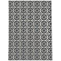 Canora Grey Hosier Floral/Gray/White Indoor/Outdoor Area Rug Polyester in Black, Size Rectangle 3' x 5' | Wayfair 4672C1FB22784A6DBFEBF5DD1261EB4B
