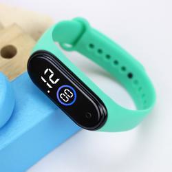 Montres de Sport pour enfants, bracelet en caoutchouc, numérique, pour filles et garçons, lumière