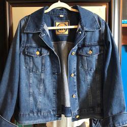 Michael Kors Jackets & Coats | Michael Kors Crop Style Denim Jean Jacket 1x | Color: Blue | Size: 1x
