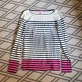 Lilly Pulitzer Sweaters | Lilly Pulitzer Crewneck Striped Sweater | Color: Blue/Pink | Size: S