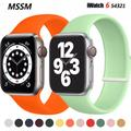 Bracelet boucle Solo pour Apple Watch Se, en Silicone, 40mm, 44mm, pour montre connectée iWatch