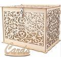 CONGYI_HUAFU Wedding Card Box w/ Lock Rustic Wood Card Box Gift Card Holder Card Box Perfect For Weddings, Baby Showers, Birthdays | Wayfair