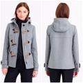 J. Crew Jackets & Coats   J.Crew Melton Wool Toggle Duffle Coat Hooded   Color: Gray   Size: 4