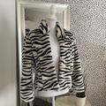 Nine West Jackets & Coats | Nine West Zebra Fur Coat Xs | Color: Black/White | Size: Xs