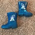 Disney Shoes   Baby Girl Frozen Elsa & Olaf Rain Boots   Color: Blue   Size: 6bb