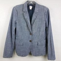 J. Crew Jackets & Coats | J Crew Women'S Lined Blue Jean Coat Jacket Blazer | Color: Blue | Size: 8