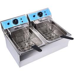 Houssem Electric Deep Fryer 16L Stainless Steel Fryer-8L+8L, Size 14.0 H in   Wayfair ES0102100