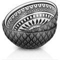 Dakota Fields 8-Inch Large Serving Bowls 66Oz Ceramic Salad Bowl Porcelain Mixing Bowls Big Pasta Bowl Set Microwave in Black | Wayfair