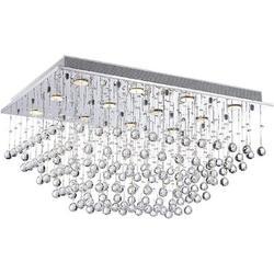 Williston Forge Modern Chandelier K9 Crystal Chandelier Light Fixture By Raindrop Chandelier Design,Modern Flush Mount Ceiling Light Fixtures