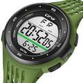 Montre numérique de Sport, étanche 5ATM, chronographe de natation, rétro-éclairage LED, réveil